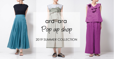 ara ara POP-UP SHOP@SPITIFARO OSAKA & KYOTO