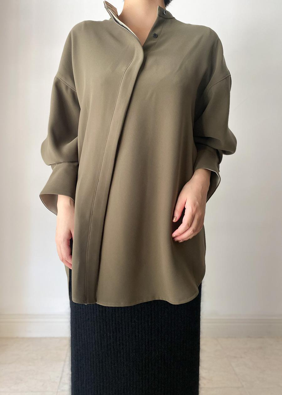 FLORENT / DESIGN FLYFRONT BLOUSE