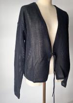 wa...lance / FRONT RIBBON SHORT CARDIGAN