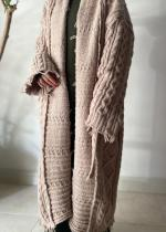 OSKER / CABLE KNIT MAXI CARDIGAN